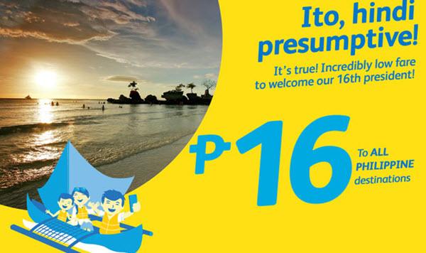 Cebu Pacific Promo 2017 Travel P16