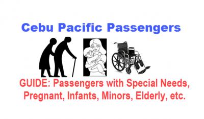 Special Passenger Handling on Cebu Pacific – Pregnant, Infant, Minor, etc