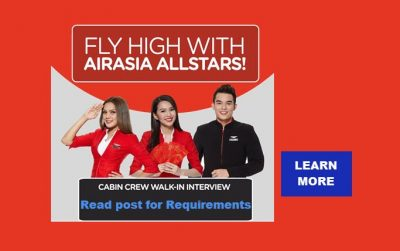 Air Asia Cabin Crew Hiring 2017 | Walk-In Applicants Accepted