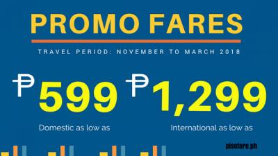 Cebu Pac November and December 2017 Promo Fare to March 2018