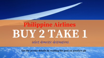 Philippine Airlines BUY 2 TAKE 1 FREE on Domestic Flights