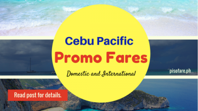 Promo Fare 2018: January, February, March, April Tickets