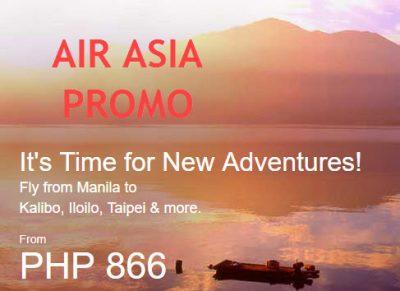 Air Asia Promo Fare 2017 to 2018: Book Taiwan Tickets at 2090 Pesos