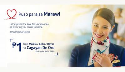 Philippine Airlines PISO FARE Promo 2017: Puso para sa Marawi