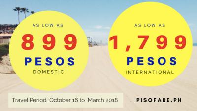 October 2017 to March 2018 Cebu Pacific Promo Fare Details