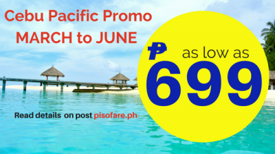 Cebu Pacific Offers Rate as Low as 699 Pesos – No Promo Code Needed
