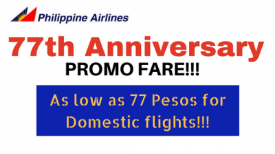 Philippine Airlines 77th Anniversary Seat Sale for 2018 to 2019: Domestic Promo