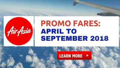Air Asia Zest Promo Fare 2018: April, May, June, July, August, September