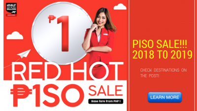 Air Asia PISO FARE 2018 to 2019 RED HOT SALE
