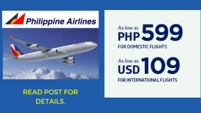 Philippine Airlines 1 Million Promo Seat Sale Domestic and International Fares