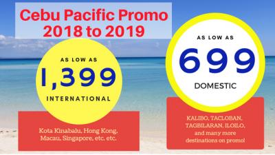Cebu Pacific Promo Fare November December 2018 to January 2019