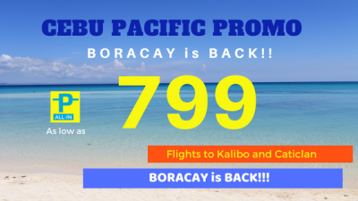 799 Pesos Cebu Pacific Boracay Promo Fare