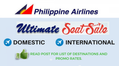 Philippine Airline ULTIMATE SEAT SALE with 199 Pesos BASE FARE and Round Trip Tickets