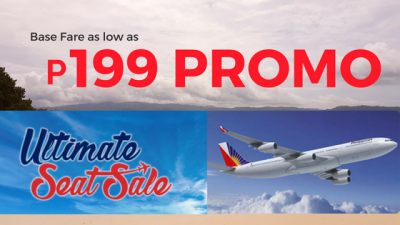 Philippine Airlines ULTIMATE SEAT SALE with 199 Pesos Tickets