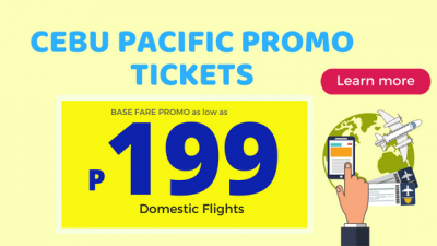 Cebu Pacific Promo Fares Offering As Low As 199 Pesos