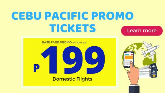 cebu pacific 199 promo fare tickets