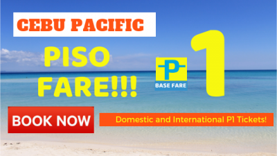 Cebu Pacific PISO FARE 2019 PROMO – Real with Proof!