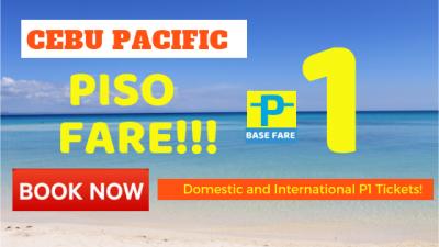 Cebu Pacific PISO FARE 2019 PROMO – Real with Proof!